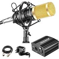 Neewer - NW-800 90088373 - Micrófono 48V Fuente Phantom con Adaptador de Corriente, Montaje de Choque, Cubierta de…