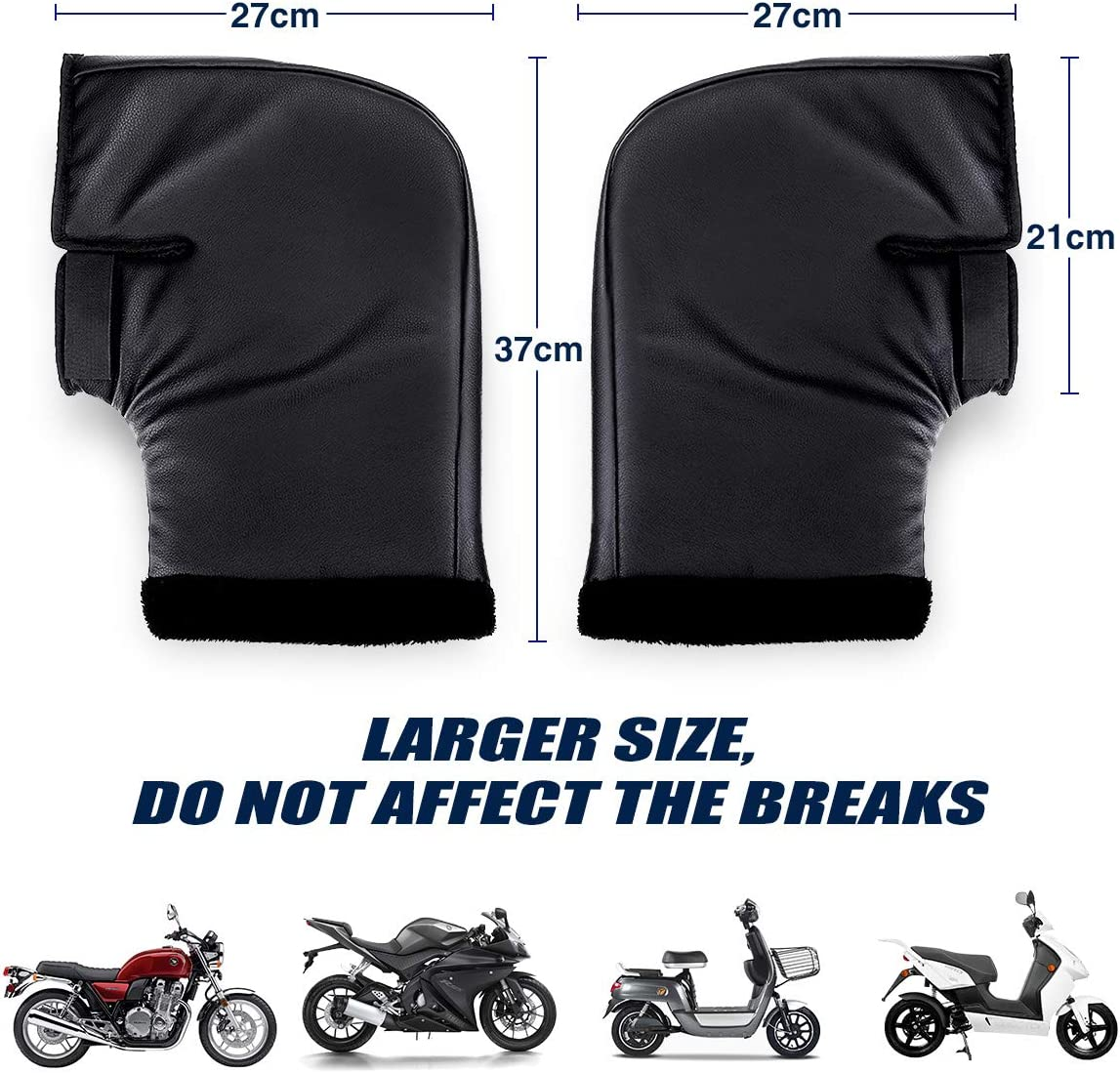 1 Pair Durable Outdoor Motorcycle Handle Bar Mitts Motorbike Muffs Gloves Cover