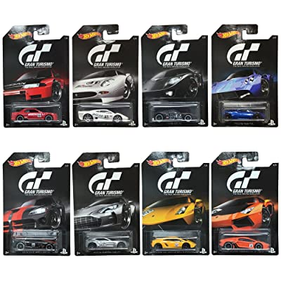 Hot Wheels 2016 Gran Turismo Bundle Set of 8 Die-Cast Vehicles, 1:64 Scale: Toys & Games