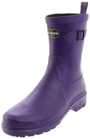 Amazon.com | Le Chameau Women's Low Boot Lady Rain Boot, Purple, 9 ...