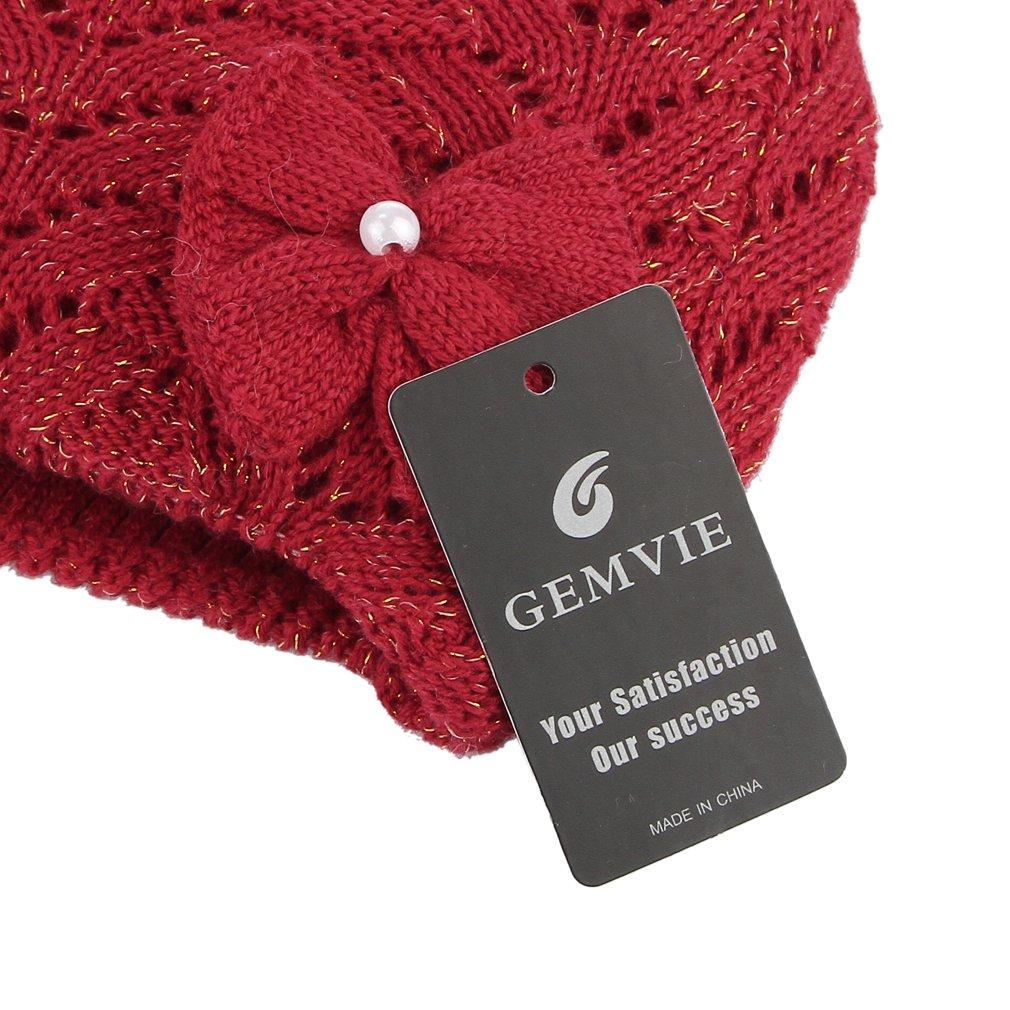 GEMVIE Chapeau Bonnet Naissance Deux Doublure  Épais Tricot Laine Bob B éb é f8ce0a3c3c3