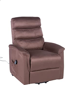 Lifesmart Lift Chair Recliner with Heat and Massage (Brown)