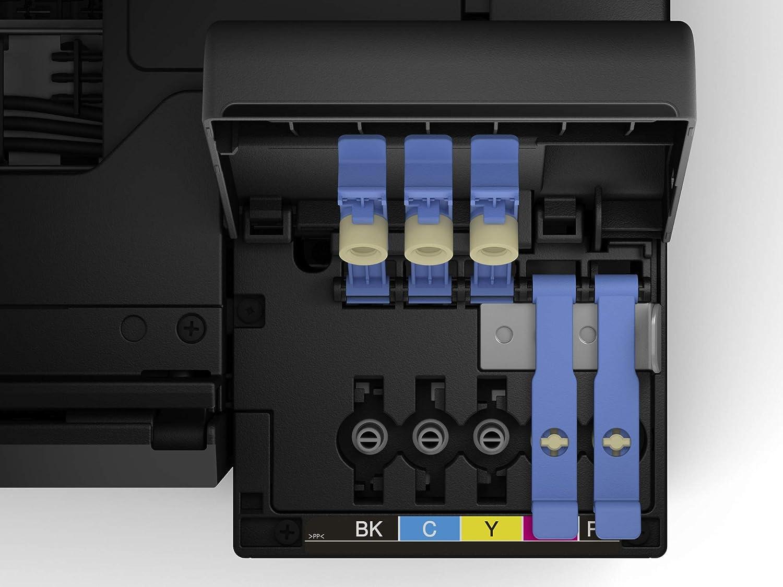 Epson EcoTank ET-7700 - Impresora, color negro + Papel fotográfico Premium Glossy, 10 x 15 cm, 2 x 40 hojas, 255 g - Glacé