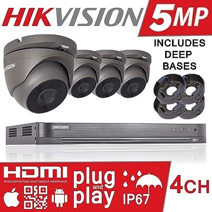 Hikvision DS-7204HUHI-K1 DS-2CE56H1T-ITM Sistema de cámaras de seguridad