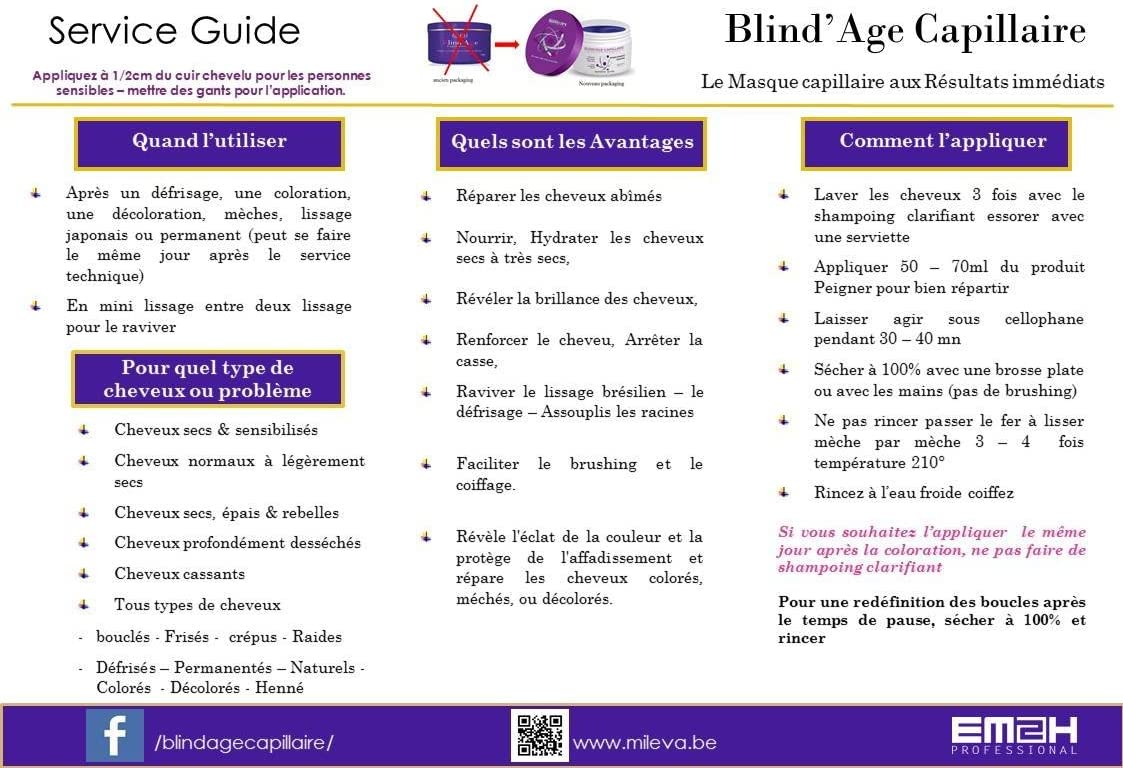 BlindAge Capillaire - Mascarilla capilar, 250 g