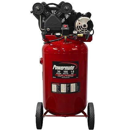 Powermate VX pla1683066 30-gallon Compresor De Aire Portátil (doble cilindro de hierro fundido