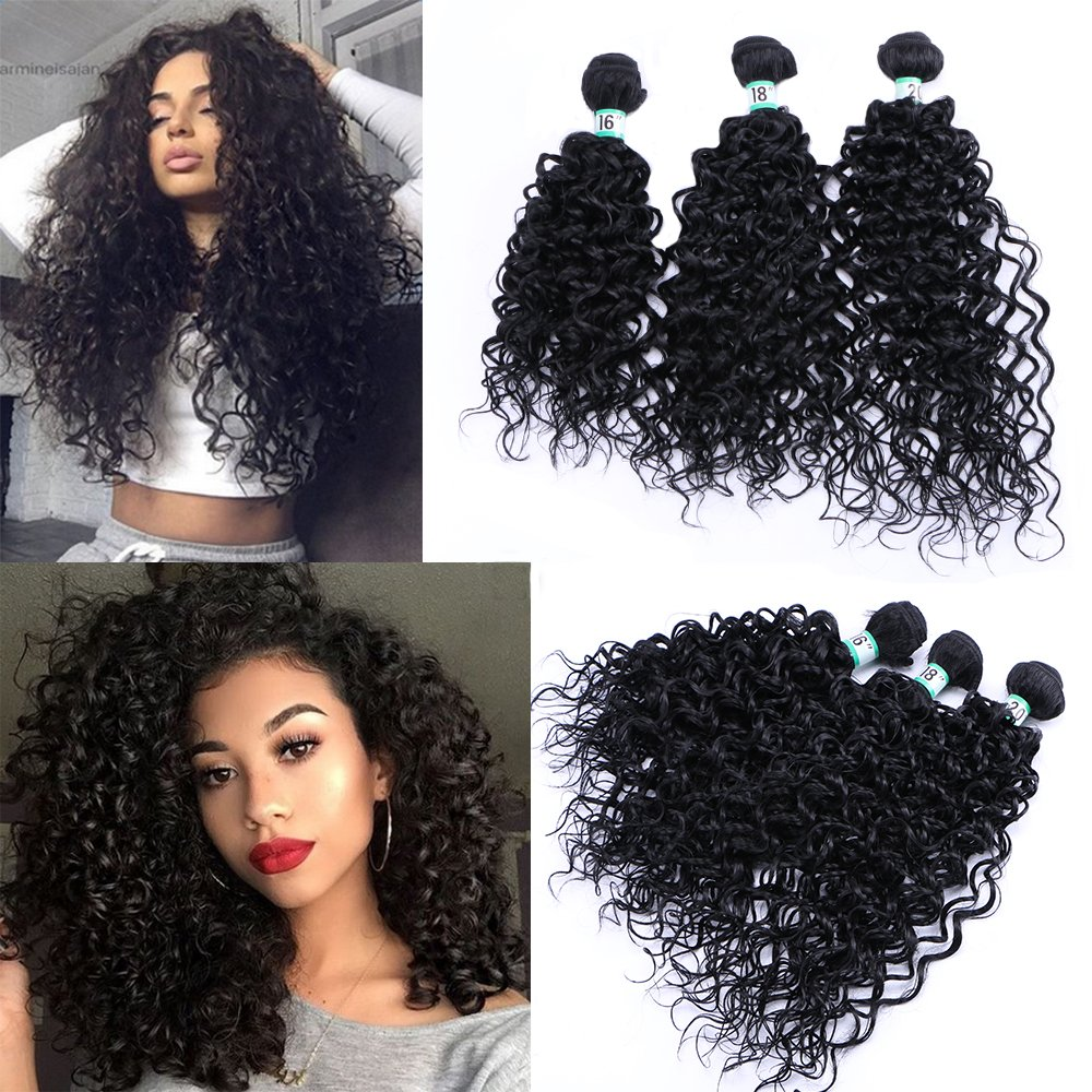 Amazon Yonis Deep Wave Hair Extensions Weft Weave Natural