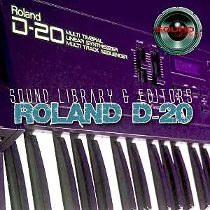 Roland D-20 gran biblioteca de sonido original y editores en CD