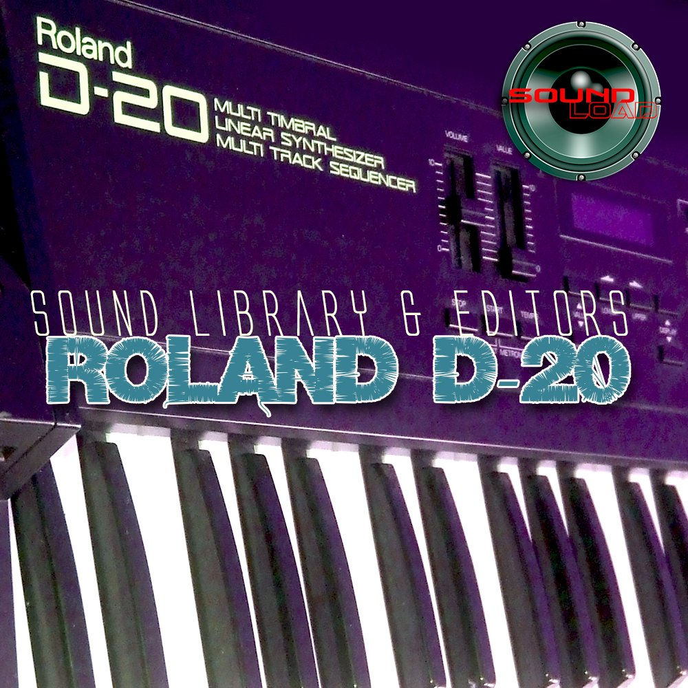 for ROLAND D-20 - Large Original Factory & NEW Created Sound Library & Editors on CD or download