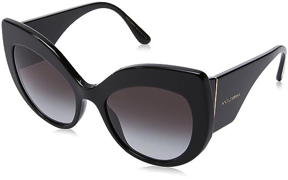 00d774cab Amazon.com: Dolce & Gabbana Women's D&G DG4321 DG/4321 501/8G Black ...