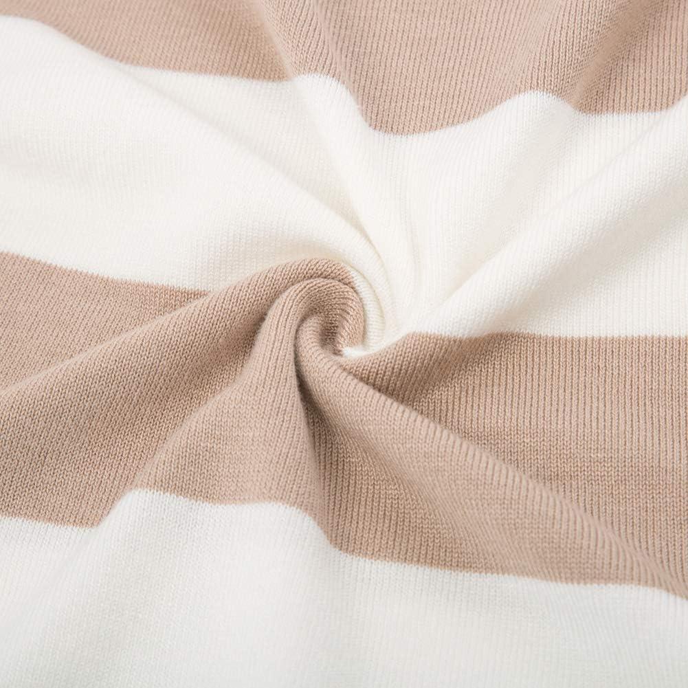 GRACE KARIN Donna Maglione Pullover a Manica Lunga Design Orlo Irregolare Sottile per Ogni Stagioni