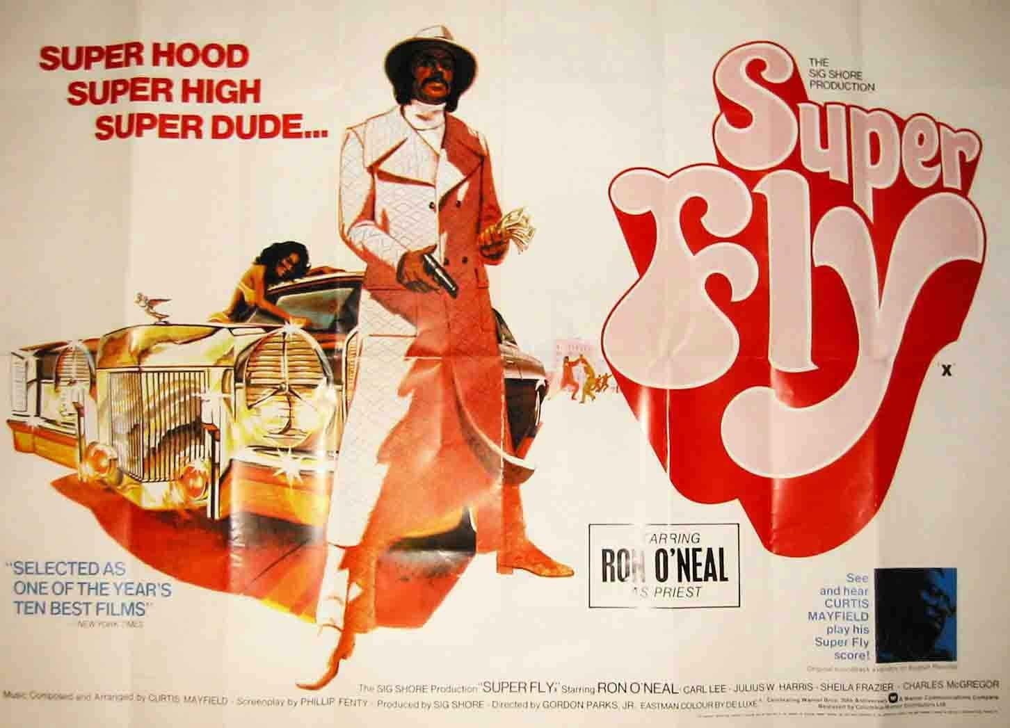 Póster de película enorme Superfly 100 x 70 cm ...