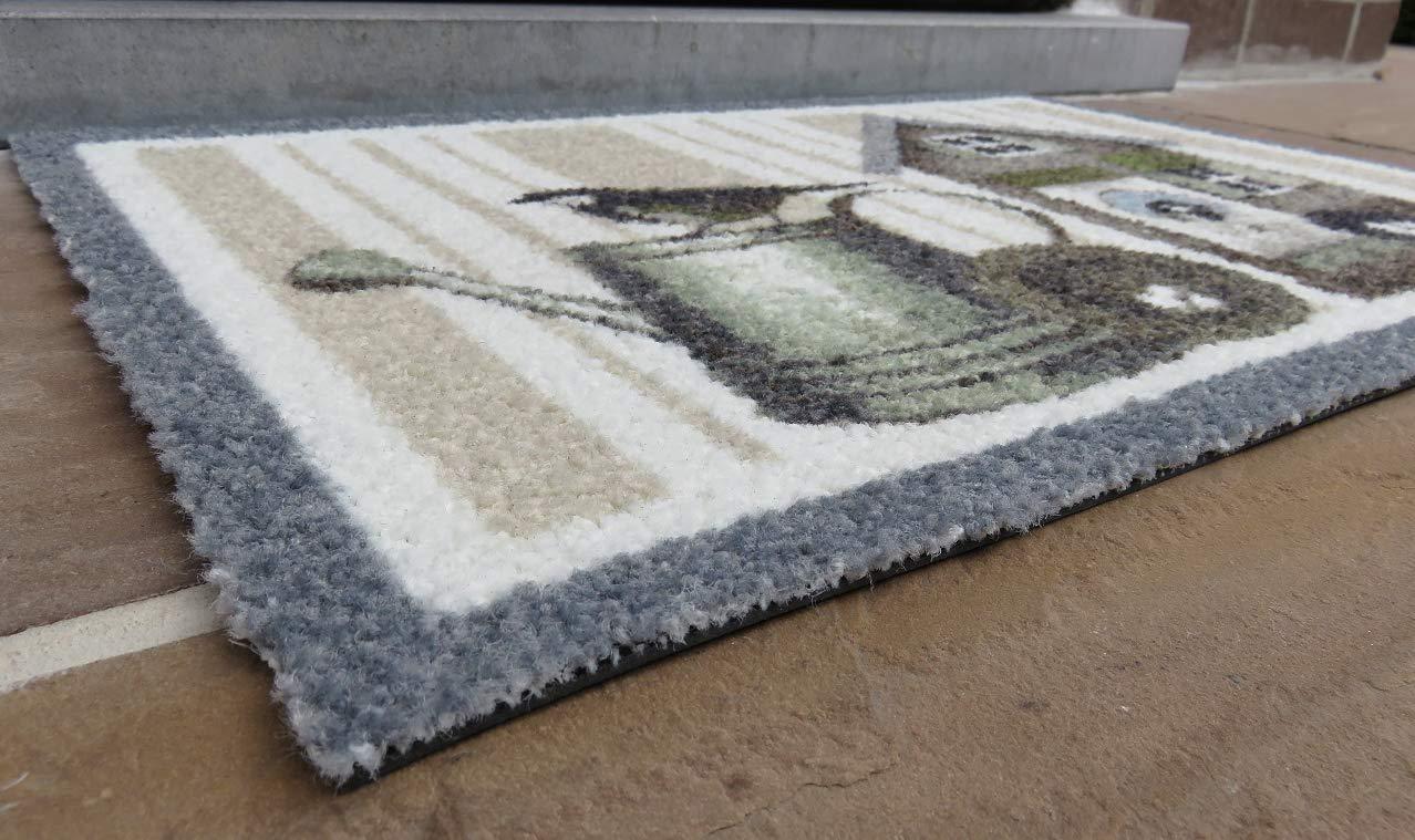 Innenbereich und Au/ßenbereich Aufdruck//Motiv Gie/ßkanne 40x60 cm Deco-Scraper Schmutzfangmatte rutschfest oKu-Tex Fu/ßmatte
