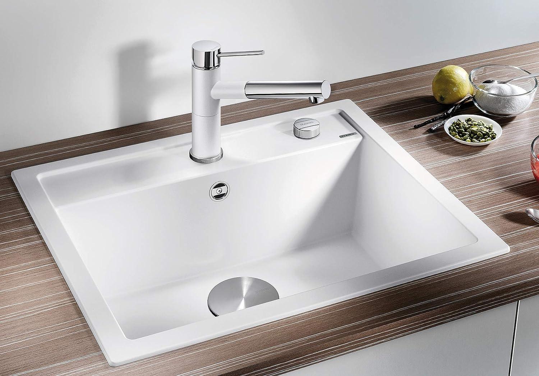 BLANCO DALAGO 20 – Spülbecken in modernem Design für 200 cm breite  Unterschränke – aus SILGRANIT in Stein-Haptik – Anthrazit-Grau – 20