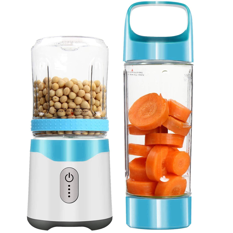 Personal Portable Blender Usb Juicer Rechargeable Travel Juice 350ML 500ML,Blue