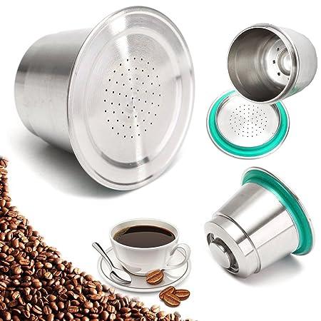 CHIMAKA Fina molida de café cápsula taza de acero inoxidable ...