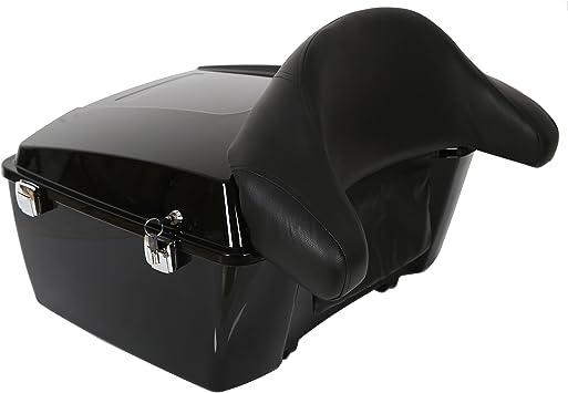 XMT-MOTO Black King Tour Pack Pak Backrest Pad Box Trunk Back Rest For Harley Touring 1997-2013