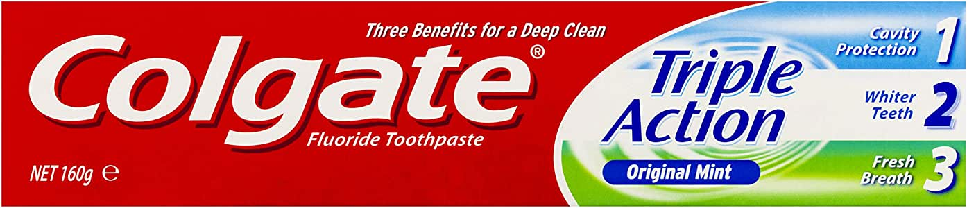 Colgate Triple Action Original Mint Toothpaste - 160g
