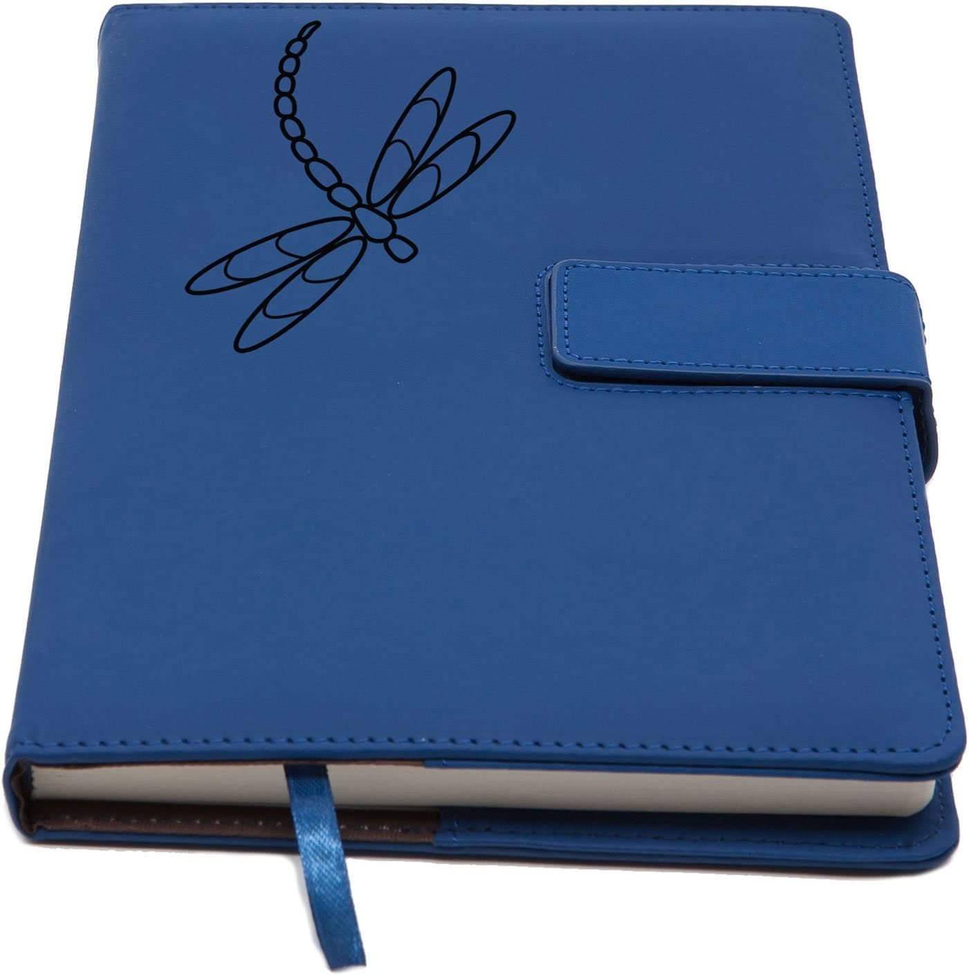 The Dragonfly Refillable Writing Journal | Magnetic Faux Leather Journal, 5 x 8 Inch, 200 Lined Pages Travel Personal Diary, Quality Notebooks and Journals for Men and Women from The Amazing Office