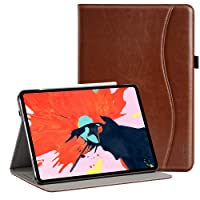 Ztotop for iPad Pro 12.9 Case 2018, Premium Leather Slim Folio Stand Cover for Apple iPad Pro 12.9-Inch 3rd Gen with Auto Sleep/Wake, Charge/Pair with New Apple Pencil, Multi-Angle Viewing,Brown
