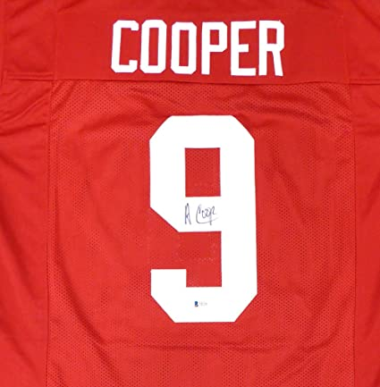 cac084415 Alabama Crimson Tide Amari Cooper Autographed Red Jersey Beckett BAS ...