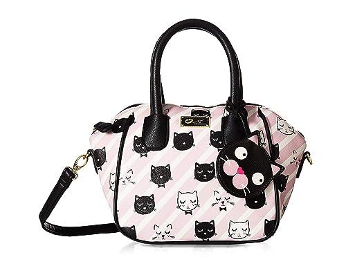 ff5466e15 Luv Betsey Quinn Small Mini Satchel Crossbody Shoulder Handbag - Black/Blush