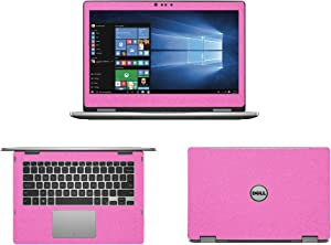 Sparkling Pink Fiber skin decal wrap skin Case for Dell inspiron 13 7000 series 7368 13.3