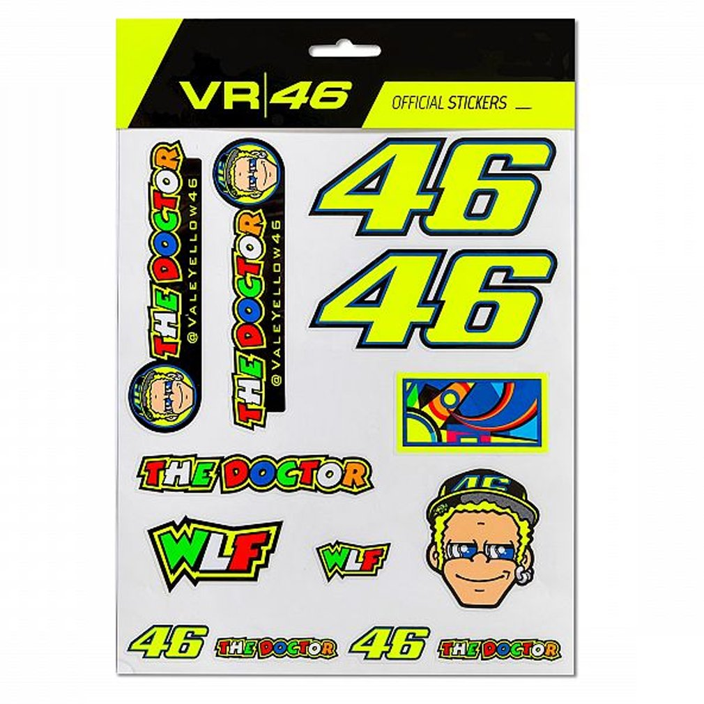 Taglia Unica Valentino Rossi Patches Kit The Doctor Giovent/ù Unisex
