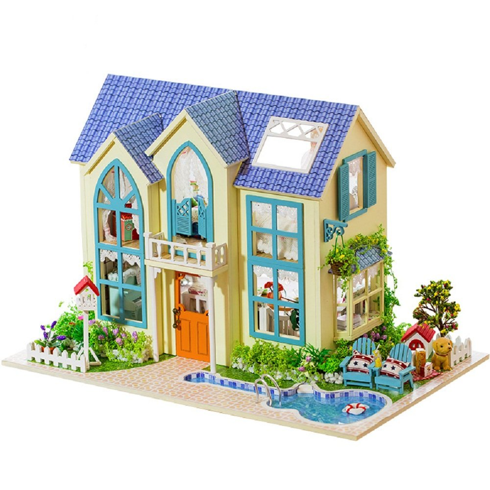 Flever (Romantic Dollhouse Room Miniature DIY House Kit Creative Room With With Furniture For Romantic Artwork Gift (Romantic Garden House) B0798M623Y, 総合卸ヨシムラ:89e60595 --- alumnibooster.club