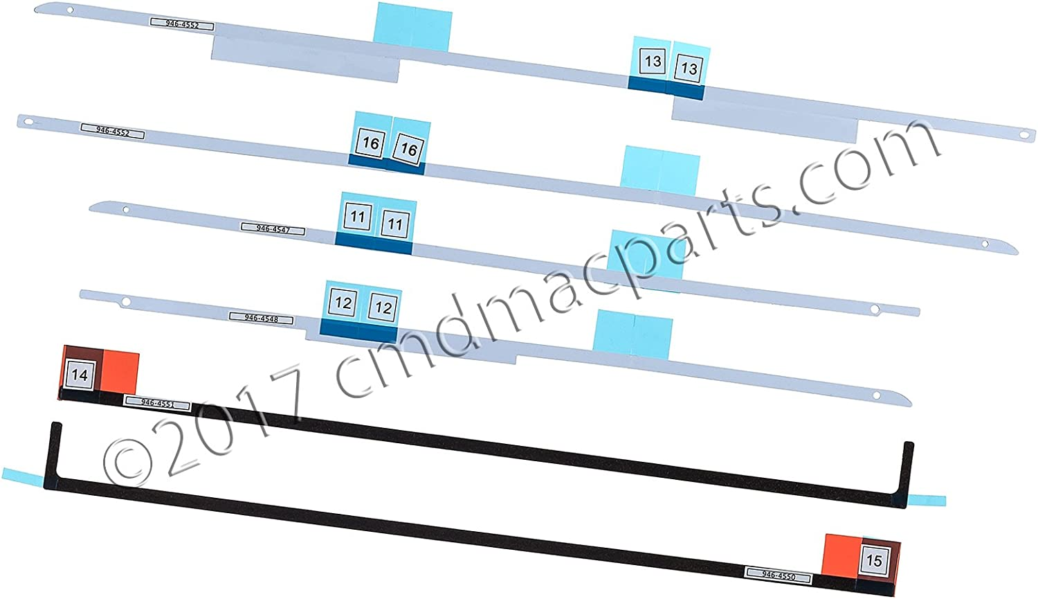 """Odyson - VHB LCD Display Adhesive Strips Replacement for iMac 27"""" A1419 (Late 2012-Mid 2017)"""