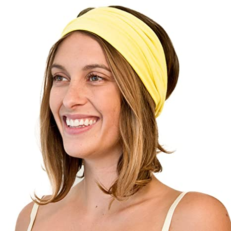 65d9e1bd4c38 KOOSHOO HU Blazing Yellow Headband. Salute The Sun In This Ecofriendly