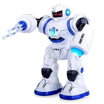 Kuman Robot Inteligente Control Remoto RC Juguetes Robóticos con Camina, Canta, Baila, Sensación