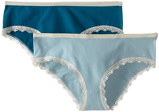 859fbe0f8203 Pact Women's Organic Cotton Hipster Panties (2-Pack, Teal/Mist, Small