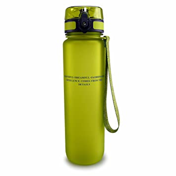 SMARDY Tritan Botella de Agua para Beber Verde - 1000ml - de plástico sin BPA - Tapa de un Clic - fácil de Abrir - ecológica - Reutilizable: Amazon.es: ...