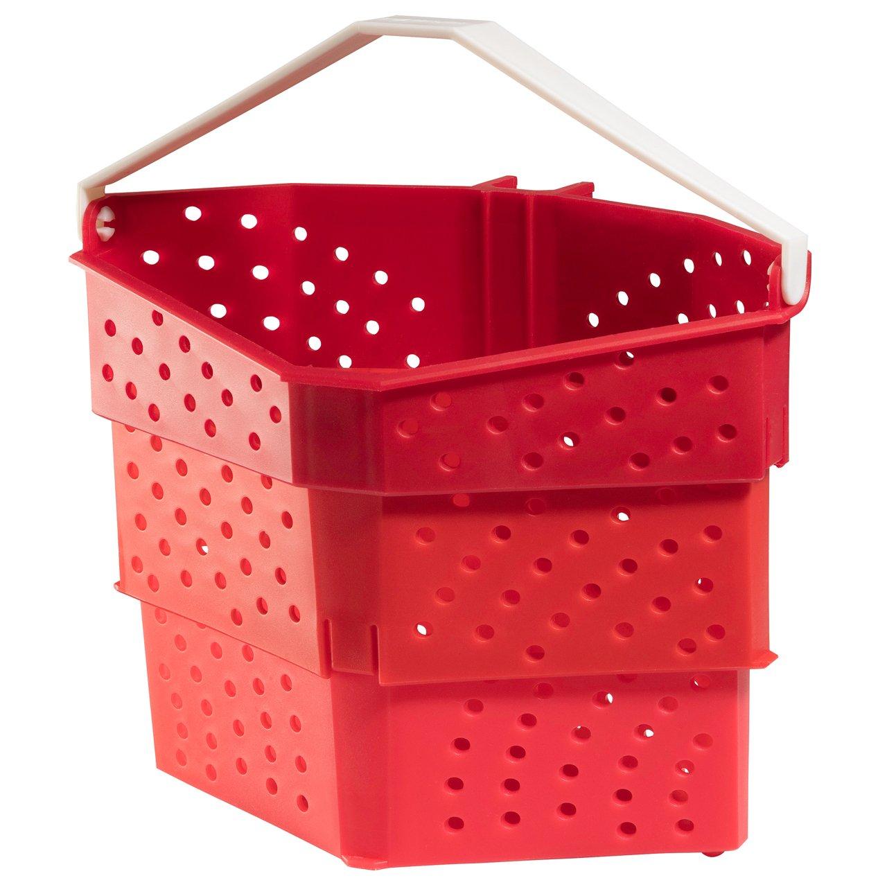 Hutzler 3879RD Steamer Basket, 1 Quart, Red