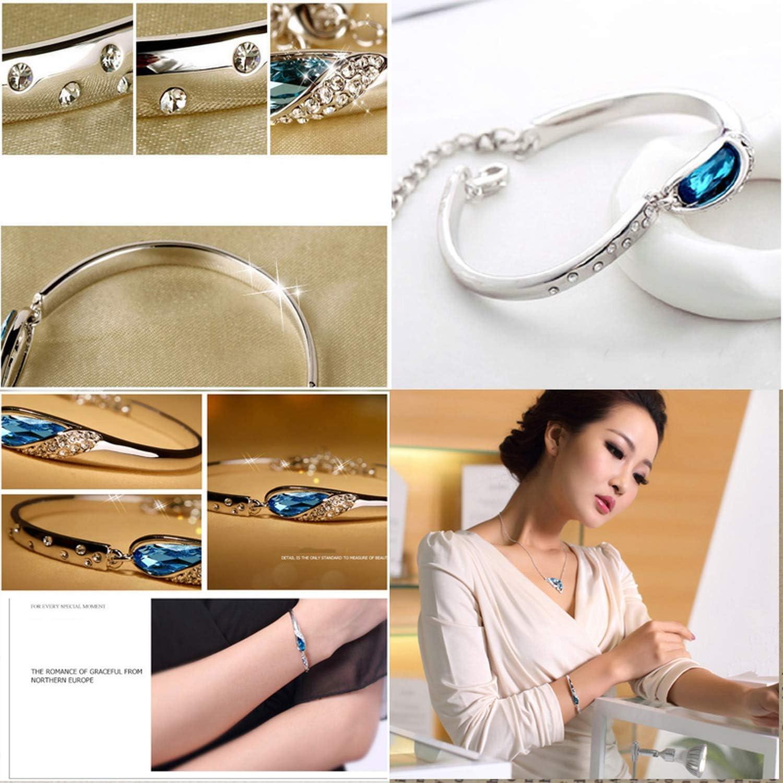Women Luxury Crystal Charm Bracelet Jewelry Adjustable Bracelets for Wedding Female Silver Jewelry