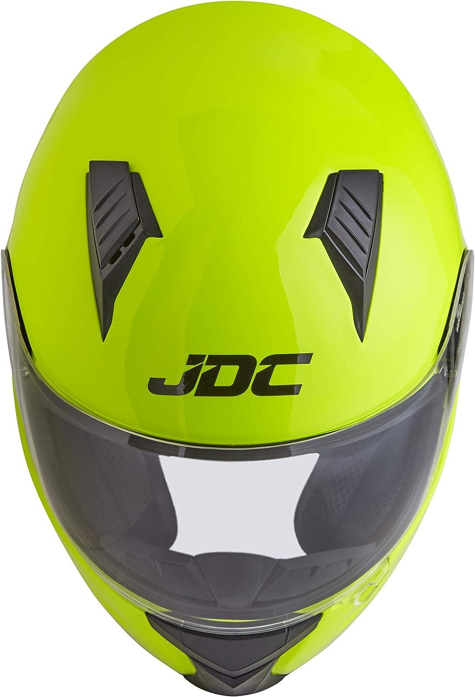 L Prism JDC Casque Moto Int/égral Jaune Fluorescent