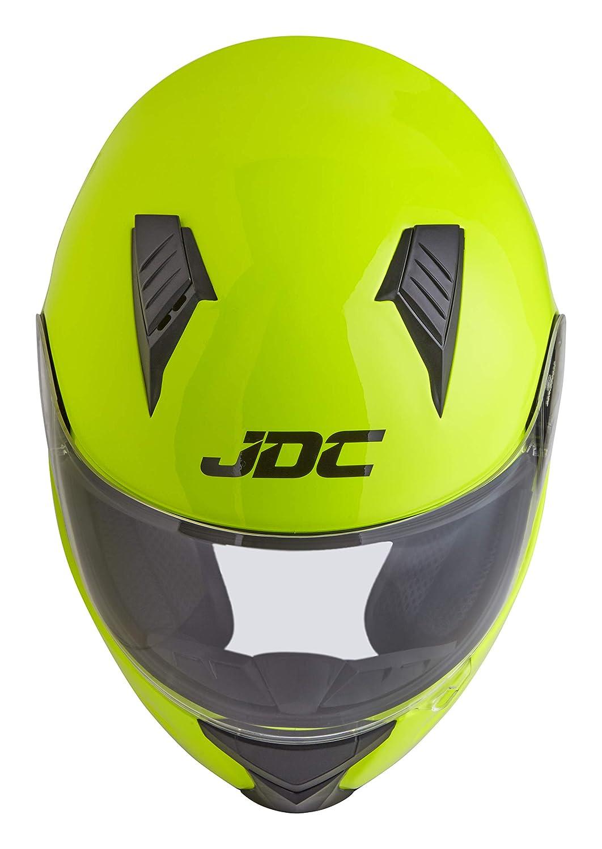 PRISM Amarillo Fluorescente XL JDC Casco Integral Para Motocicleta Cascosintegrales