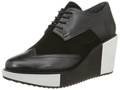 Mid Geo United Wing Derby Chaussures Nude Femme Noir aZSqtxHUw
