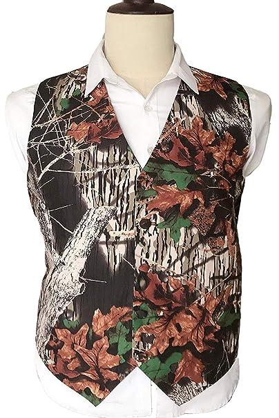 Amazon.com: Chaleco de camuflaje con cuello en V para hombre ...