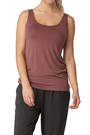 968ae9d0661b2 Women s Soft Viscose from Bamboo Shelf Bra Tank Top at Amazon Women s  Clothing store