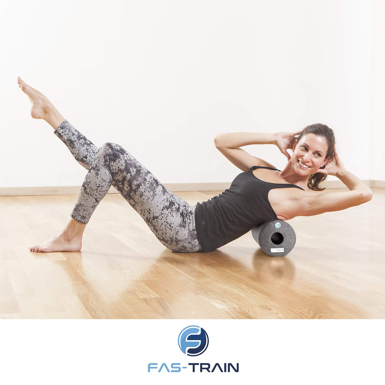Fas-Train Faszienrolle - Starter-Set für den perfekten Einstieg ins Training mit Massagerollen Poster /& Tasche I Schaumstoffrolle 4-teiliges Inkl Foam Roll Set für effektives Faszientraining