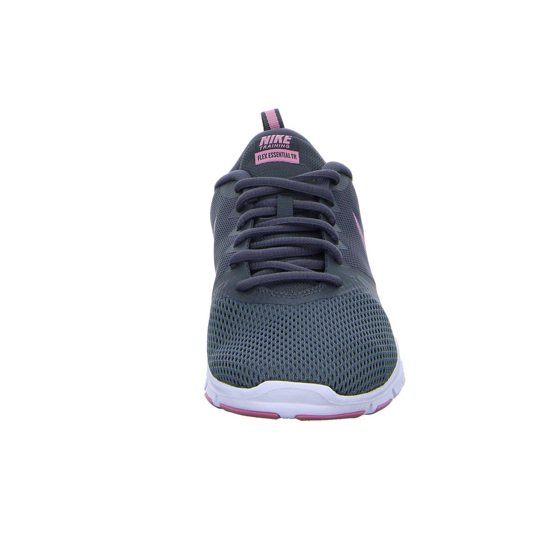 NIKE Women's Flex Essential Tr Training Shoe B0789TLKGB 8.5 M US|Dark Grey/Elemental Pink