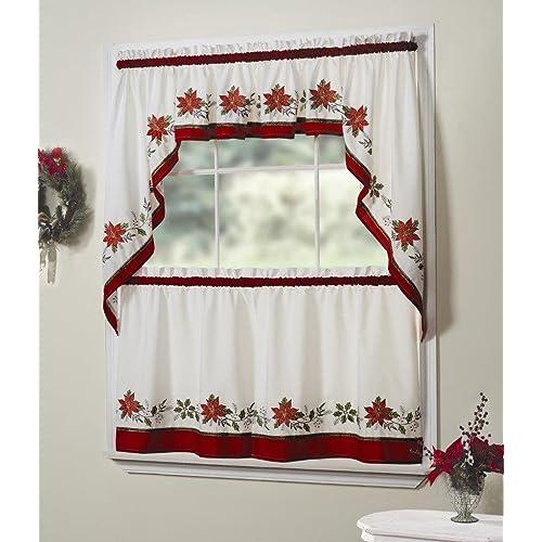 Kitchen Christmas Curtains Amazon Com