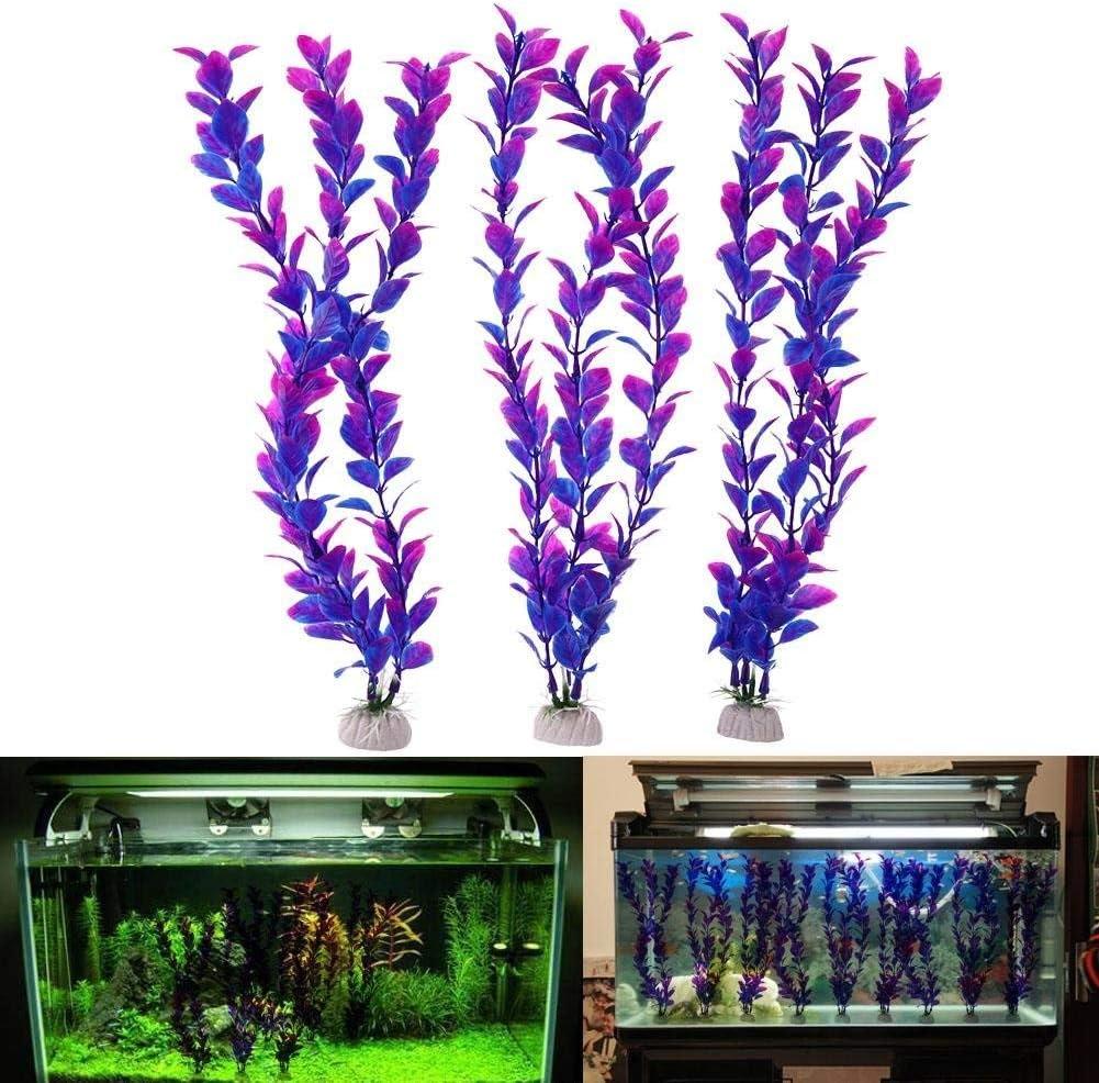 fast-shop 3pcs Aquatic Plant Simulation Aquarium Fish Tank Decoration Ornament Useful and Practical