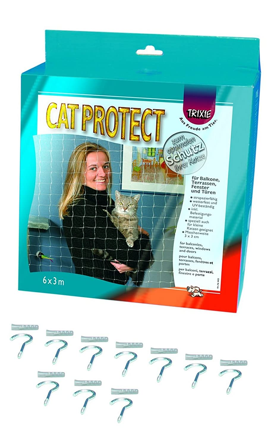 Trixie Filet de Protection Transparent 4 × 3 m pour Chat 44323