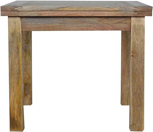 Artisan Muebles Mariposa Mesa de Comedor Extensible con Patas Rectas, Madera, Acabado Roble Natural: Amazon.es: Hogar
