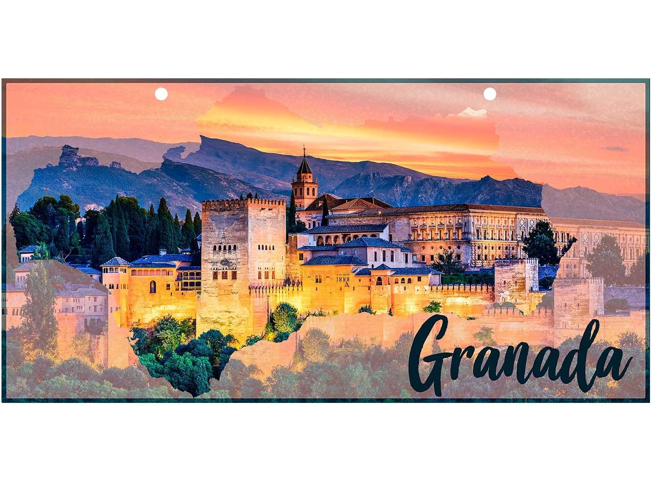 Matricula Decorativa 30,00 cm x 15,00 cm Granada ...