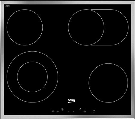 Beko EB 9741 XHL - Placa vitrocerámica con controles ...