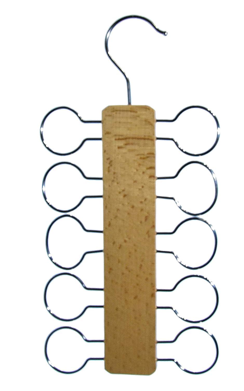 Zeller 17115 T/ücherhalter Buche//Chrom 13 x 28 x 1 cm